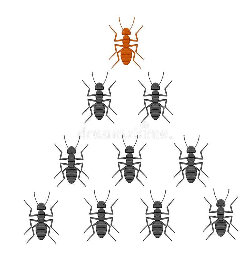 Équipe de fourmis illustration libre de droits