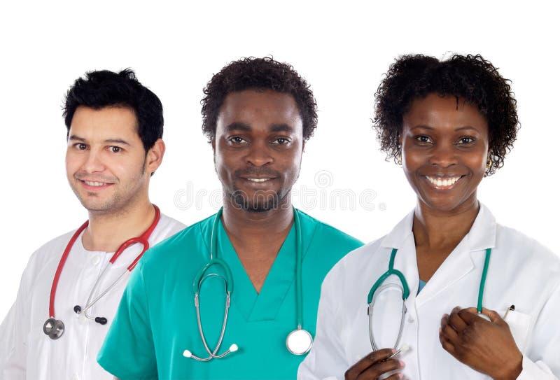 Équipe de jeunes médecins image libre de droits