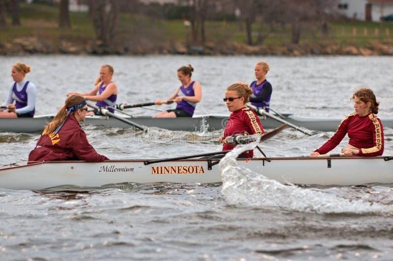 Équipe de l'aviron des femmes du Minnesota images stock