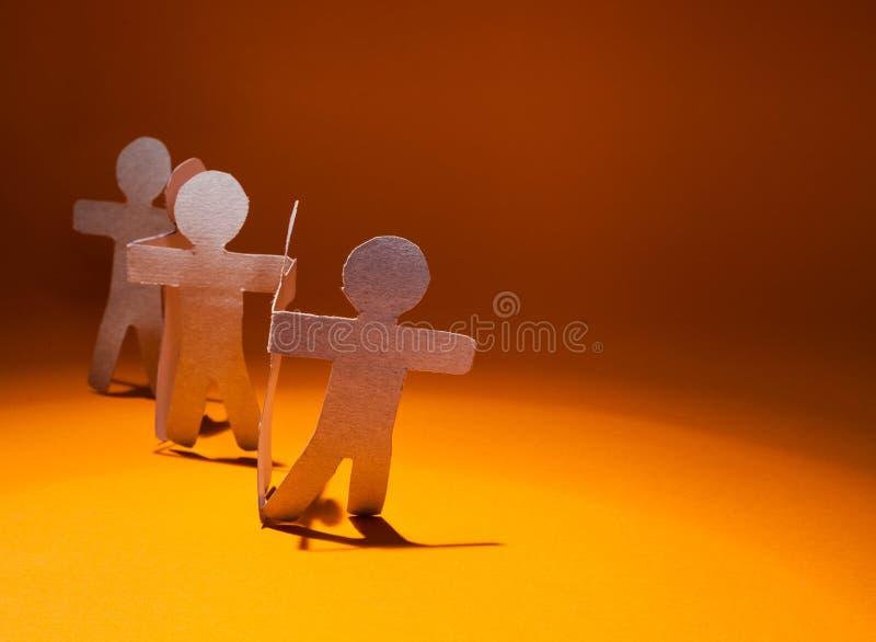 Équipe de papier. photos stock