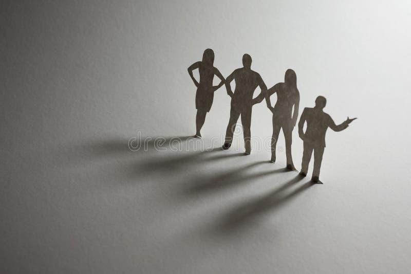 Équipe de papier d'affaires photos libres de droits