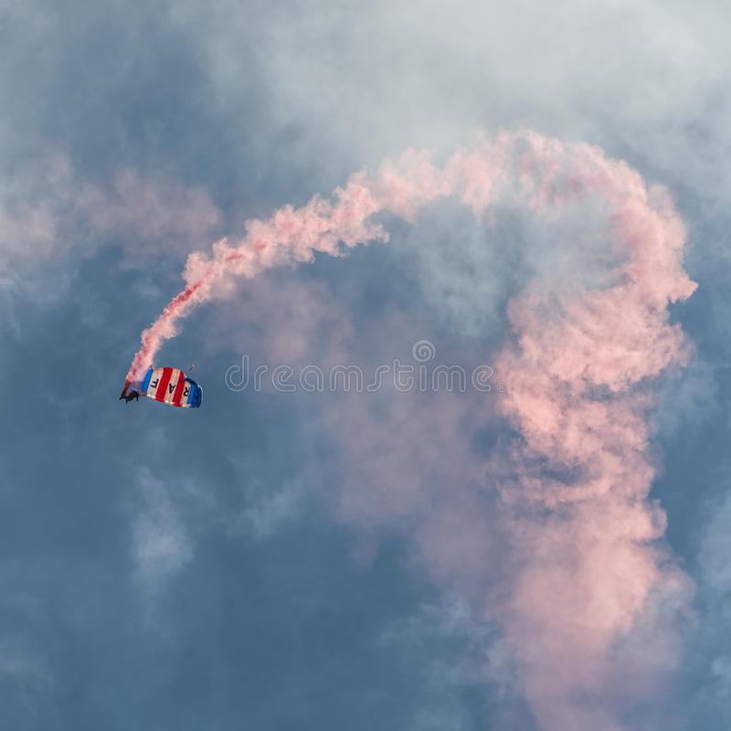 Équipe de parachute de RAF Falcons image stock