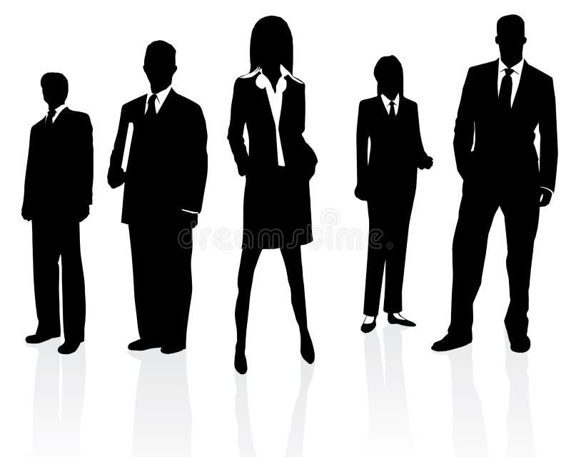 équipe de professionnel d'affaires illustration de vecteur