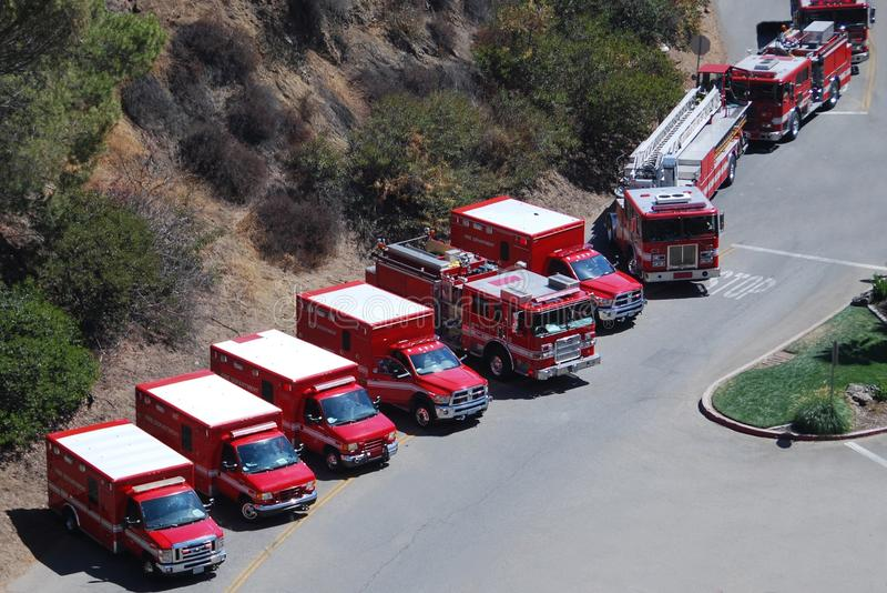 Équipe de réaction de secours photo stock