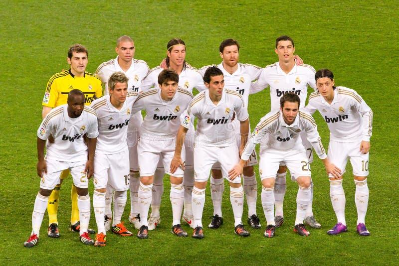 Équipe de Real Madrid image libre de droits