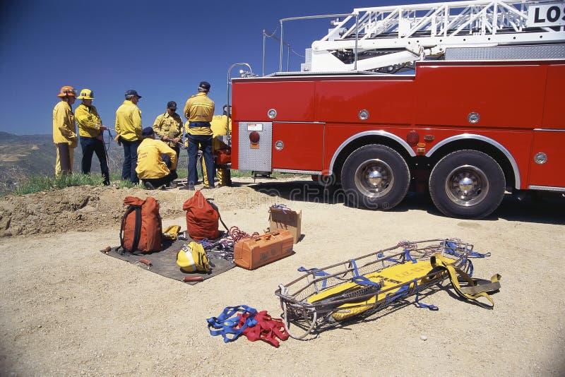 Équipe de secours photo libre de droits