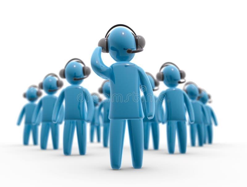 équipe de service à la clientèle illustration de vecteur