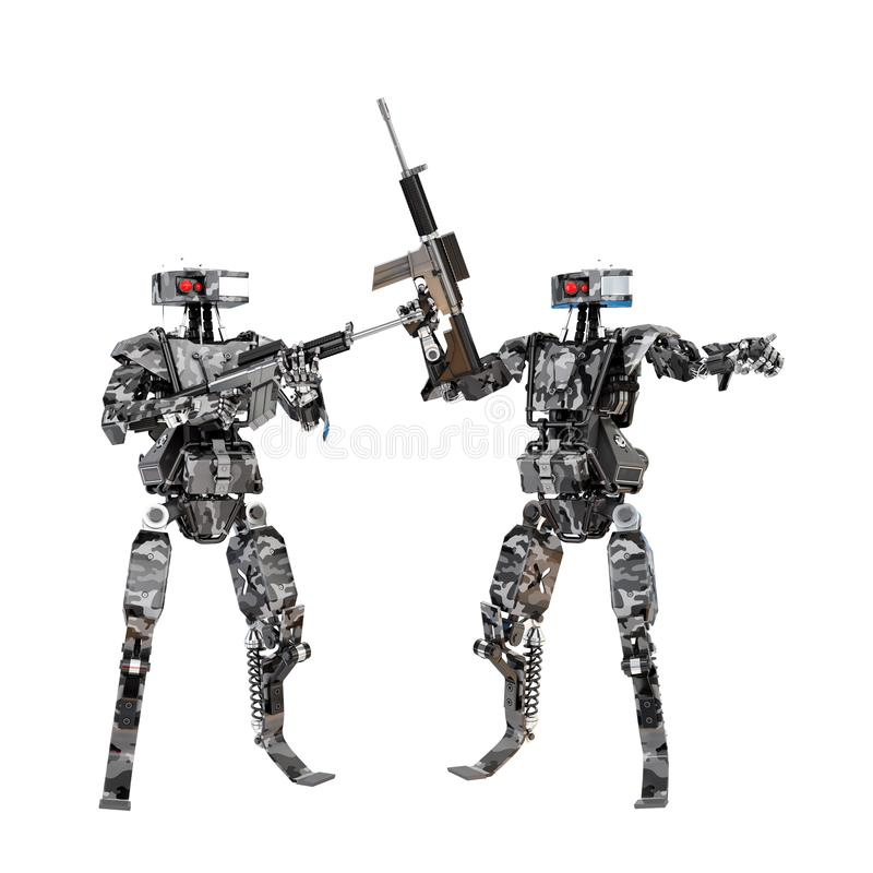 Équipe de soldat de robot image libre de droits