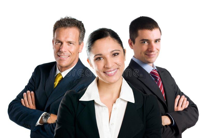 Équipe de sourire d'affaires image libre de droits