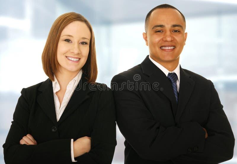 Équipe de sourire d'affaires images stock