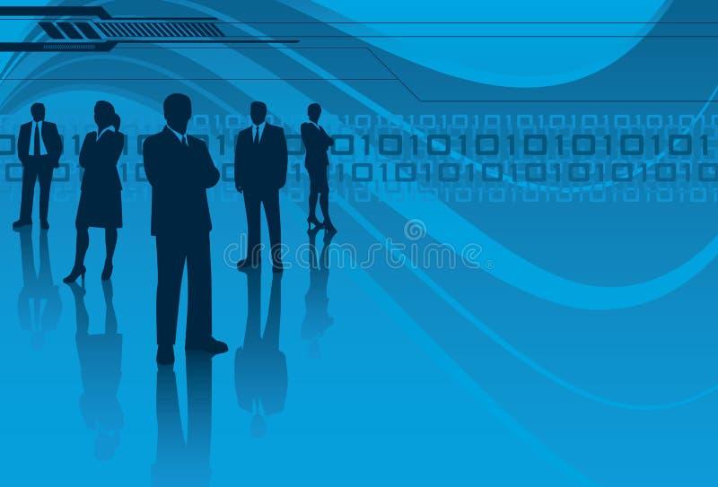 Équipe de technologie de l'information illustration stock