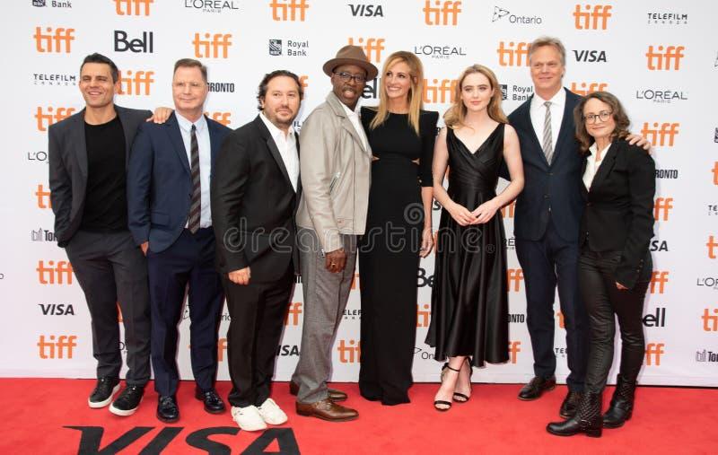 Équipe de tournage avec Julia Roberts à la première de Ben Is Back, festival de film international de Toronto 2018 photos stock