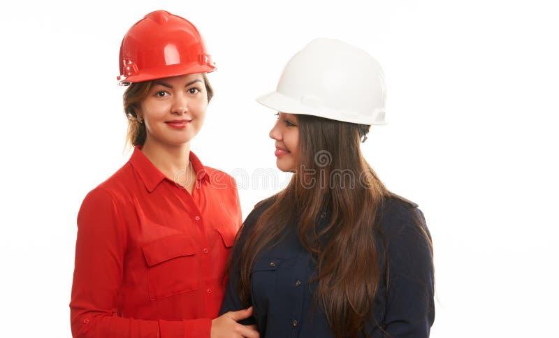 Équipe de travailleurs de la construction images stock