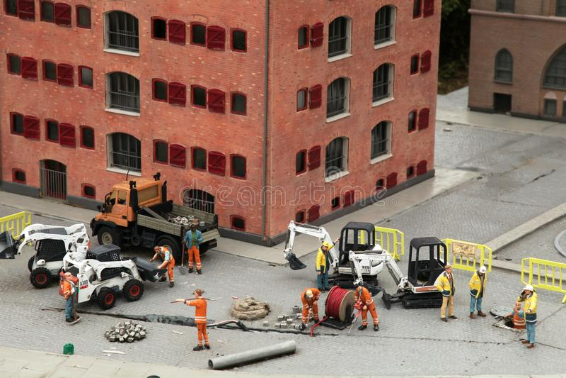 Équipe de travailleurs de la construction photos libres de droits