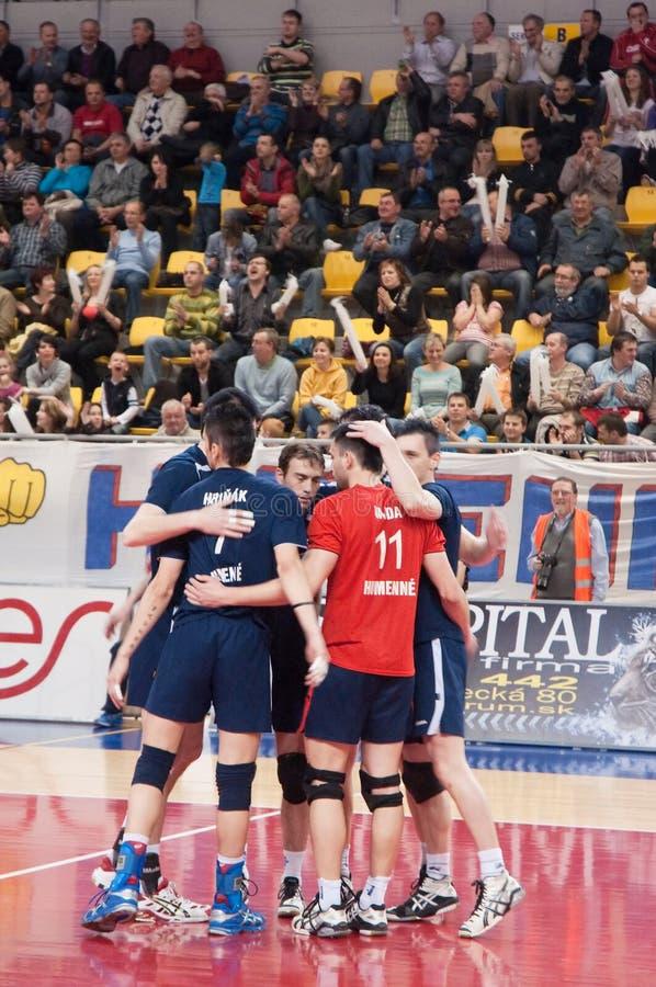 Équipe de volleyball de Humenne photographie stock libre de droits