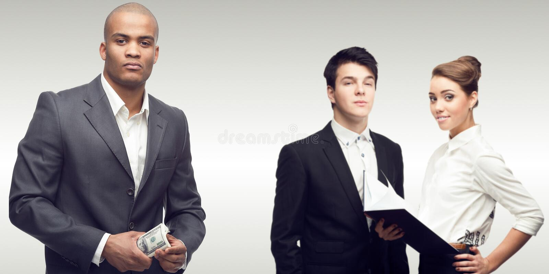 Équipe des gens d'affaires réussis images libres de droits