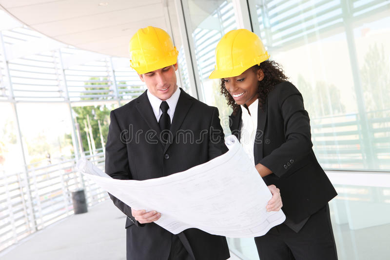 Équipe diverse de construction d'affaires images stock