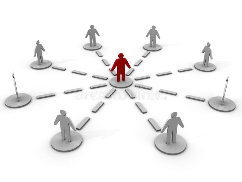 équipe du gestionnaire 3d illustration stock