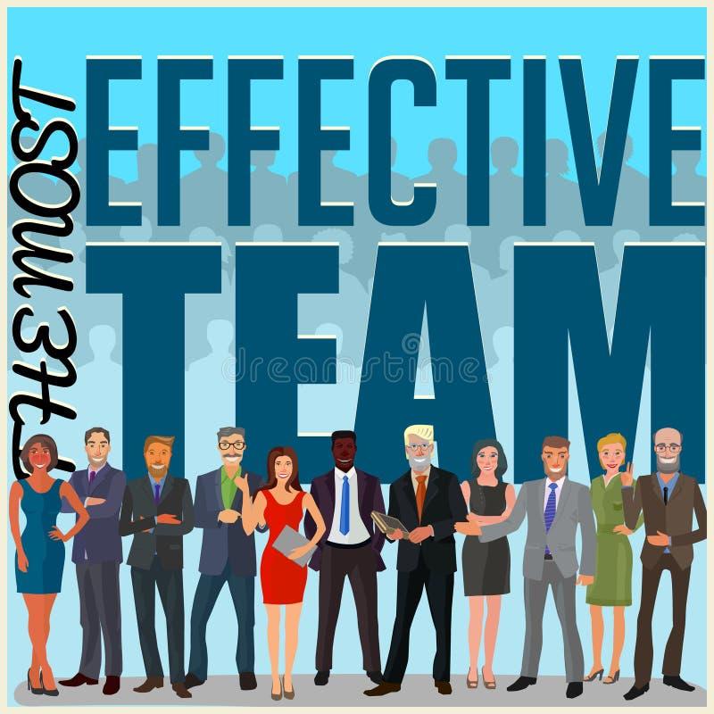 Équipe efficace d'affaires illustration libre de droits