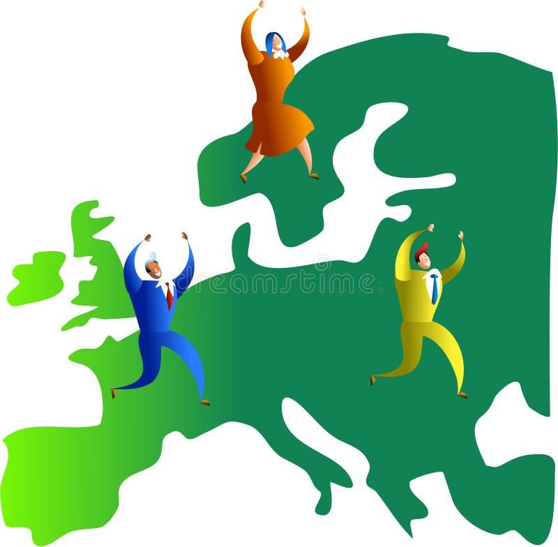 Équipe européenne illustration libre de droits
