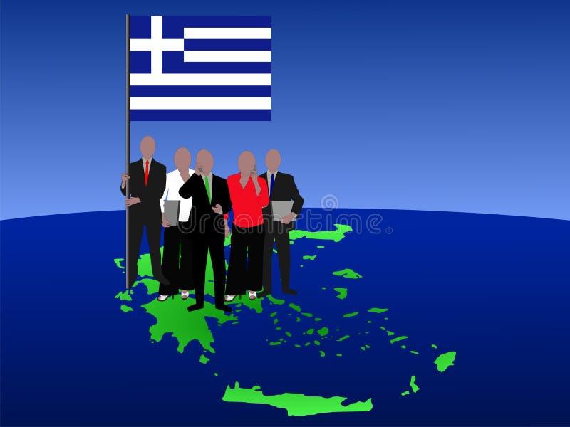 Équipe grecque d'affaires illustration stock