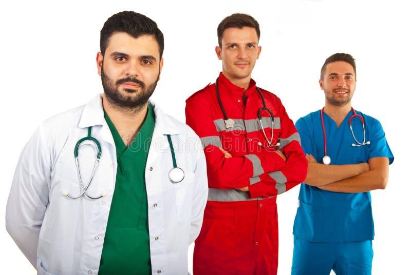 Équipe heureuse de médecins photos stock