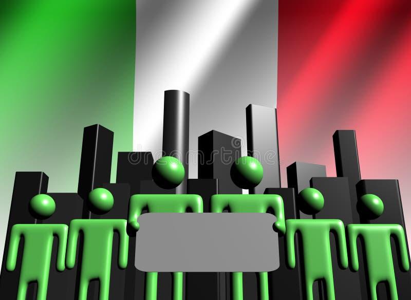 Équipe italienne d'affaires avec l'horizon illustration stock