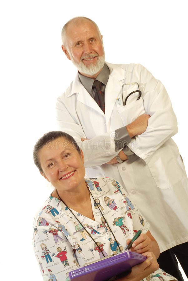 Équipe médicale aînée photographie stock libre de droits