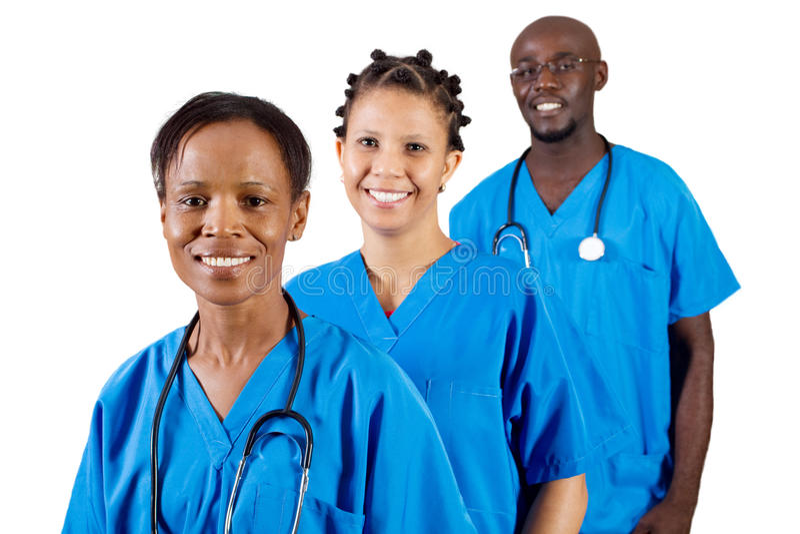Équipe médicale africaine photographie stock