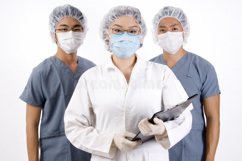 Équipe médicale de groupe photo libre de droits
