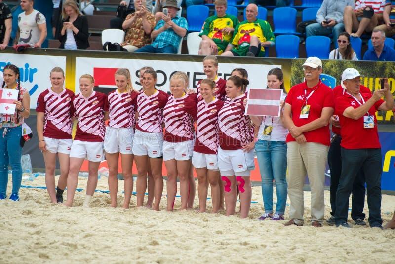Équipe nationale letton de rugby du ` s de femmes image stock