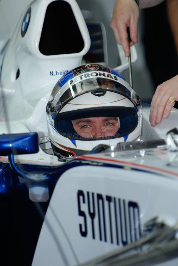 Équipe Nick Heidfeld F1.07 Allemagne sept de BMW Sauber F1 images stock