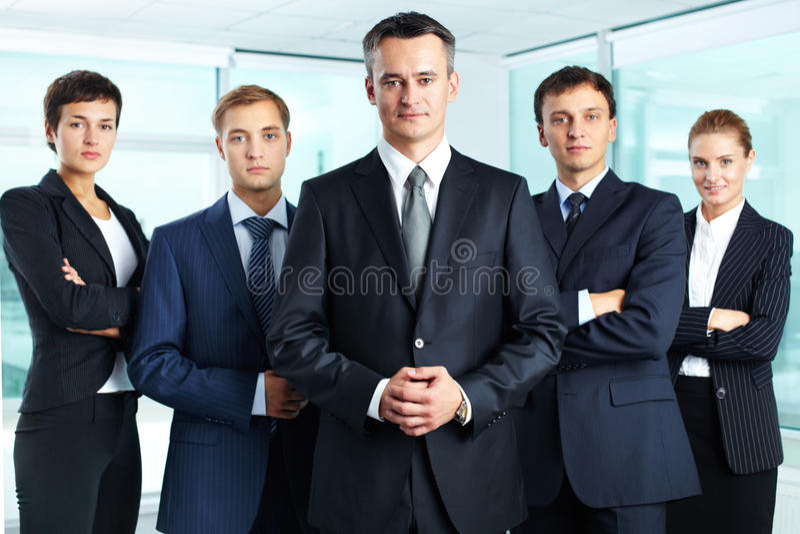 Équipe professionnelle photographie stock