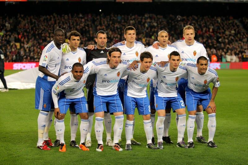 Équipe réelle de Zaragoza photographie stock libre de droits