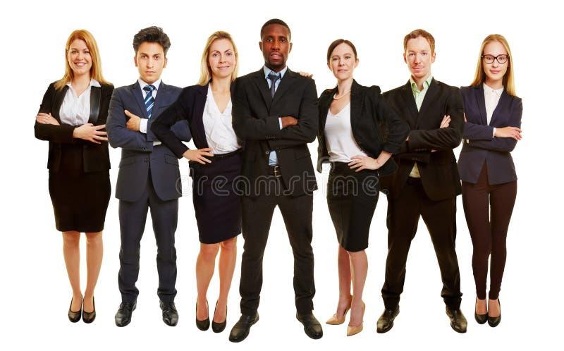 Équipe réussie d'affaires comme groupe photo libre de droits