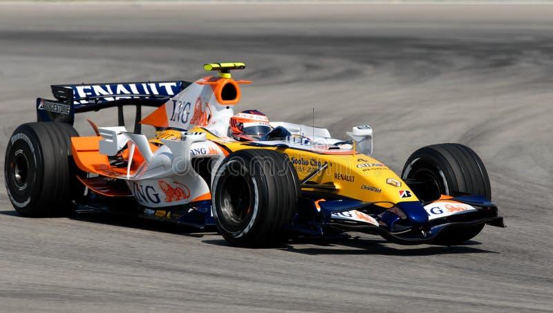 Équipe R27 Heikki Kovalainen d'ING Renault F1 finlandais photos stock