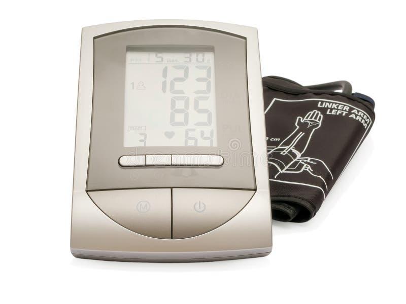 Équipement électronique moderne de mesure de tension artérielle de sphygmomanometer photos stock
