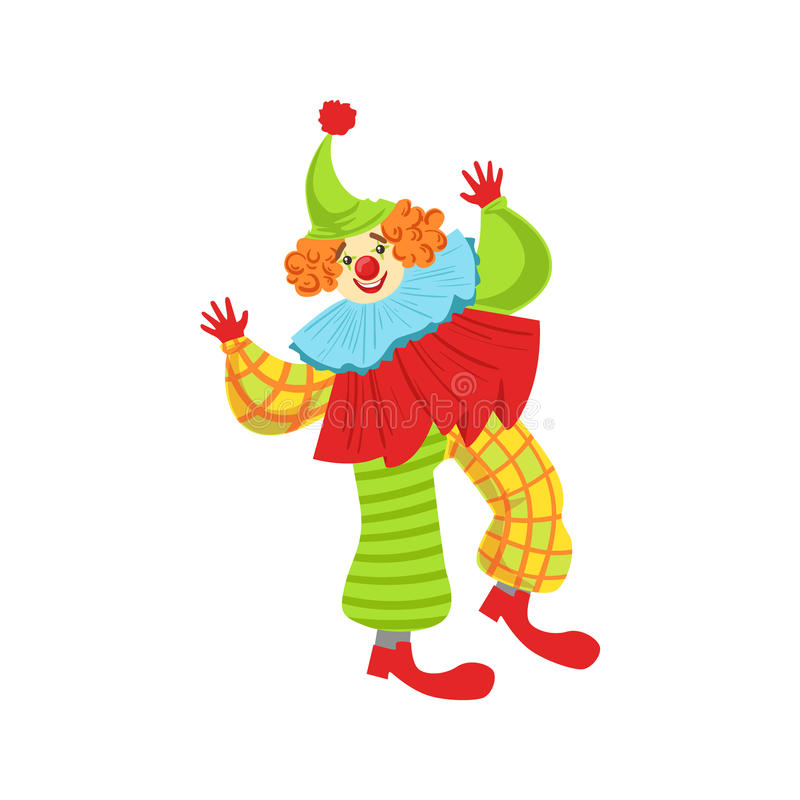 Équipement amical coloré de classique d'In Ruffle To de clown illustration de vecteur