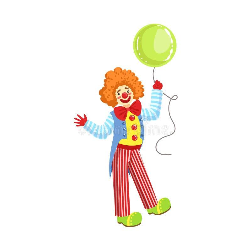 Équipement amical coloré de classique de With Balloon In de clown illustration libre de droits