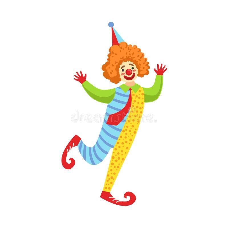 Équipement amical coloré de classique de With Tie In de clown illustration de vecteur