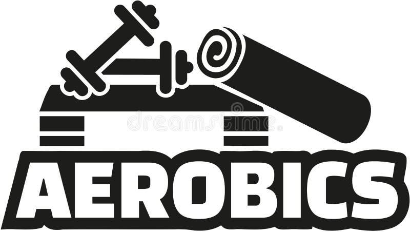 Équipement d'aérobic avec le mot illustration de vecteur