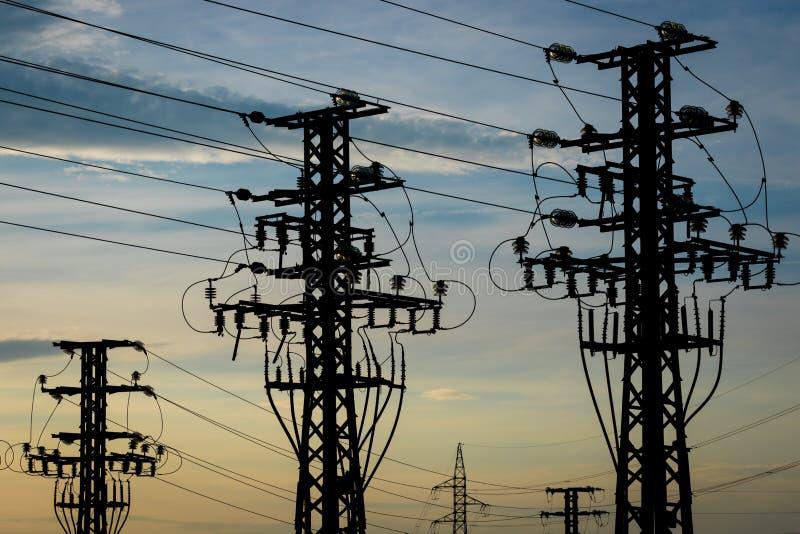 Équipement d'une haute tension des réseaux électriques photographie stock libre de droits