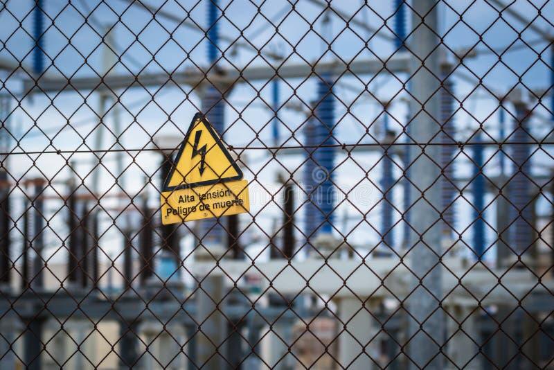 Équipement d'une haute tension des réseaux électriques photo libre de droits