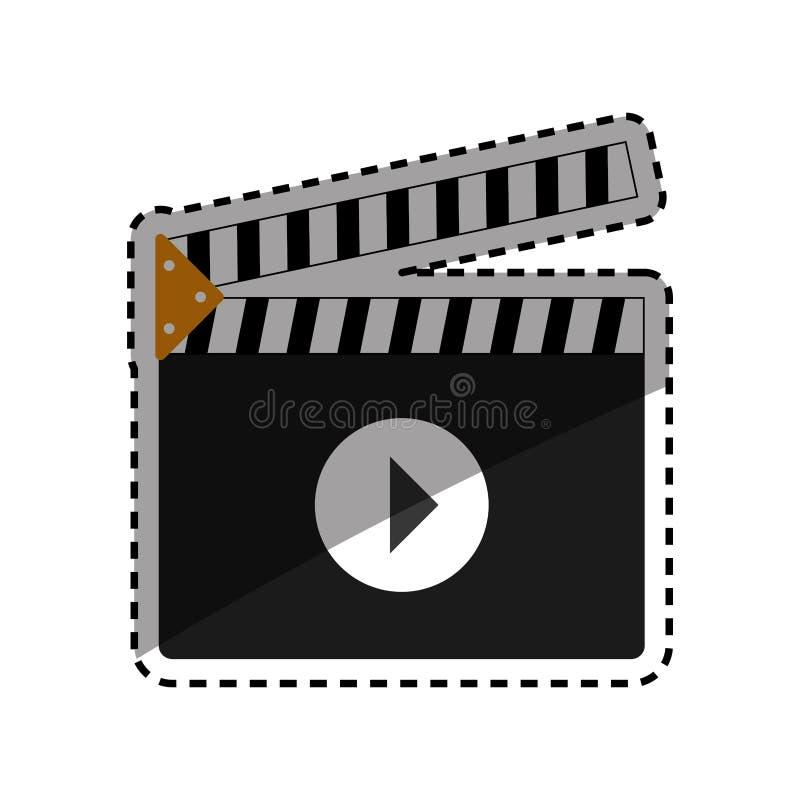 équipement de bardeau de cinéma illustration de vecteur