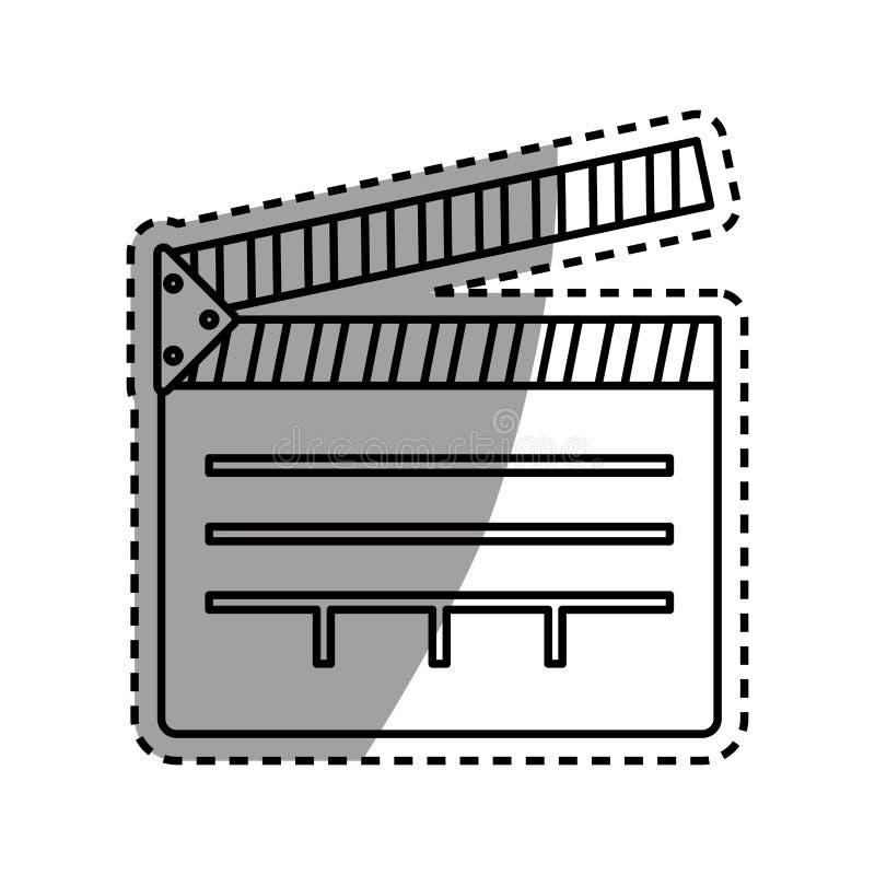 équipement de bardeau de cinéma illustration libre de droits