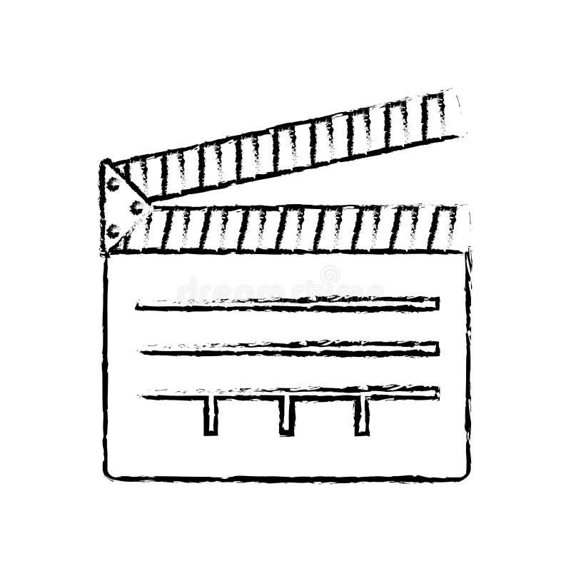 équipement de bardeau de cinéma illustration stock