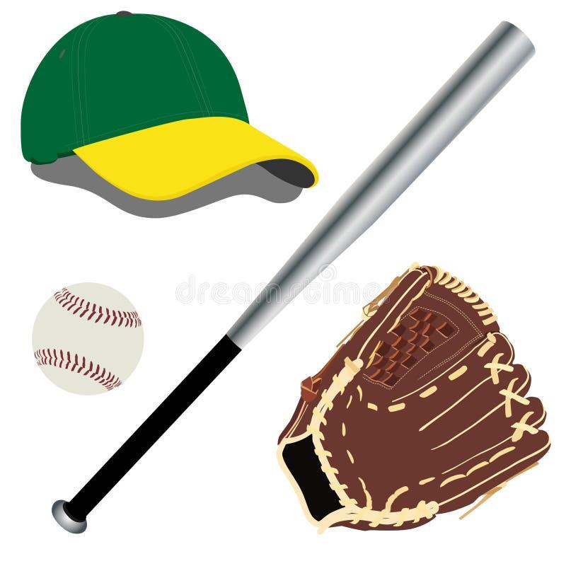 Équipement de base-ball illustration stock