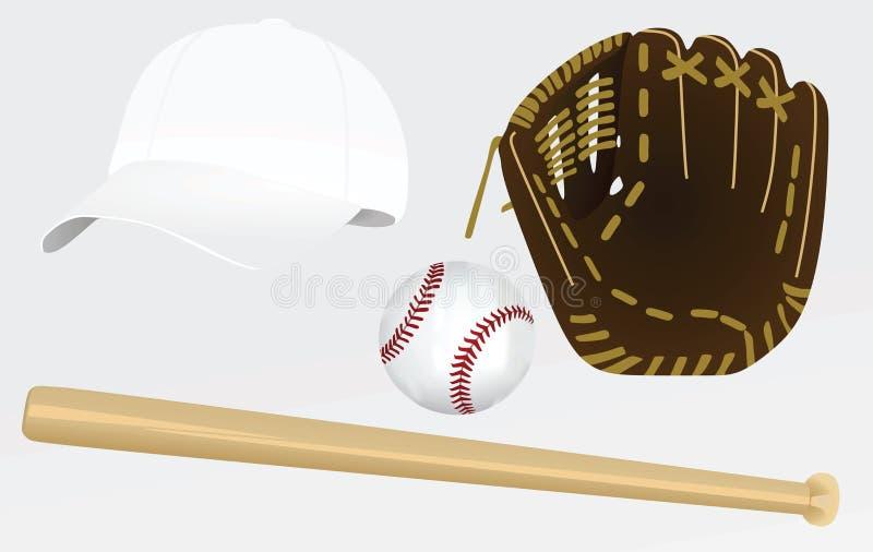 Équipement de base-ball illustration de vecteur