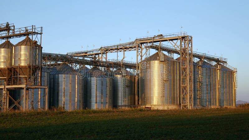 Équipement de brassage de bière de métier dans des réservoirs en métal de brasserie photo stock