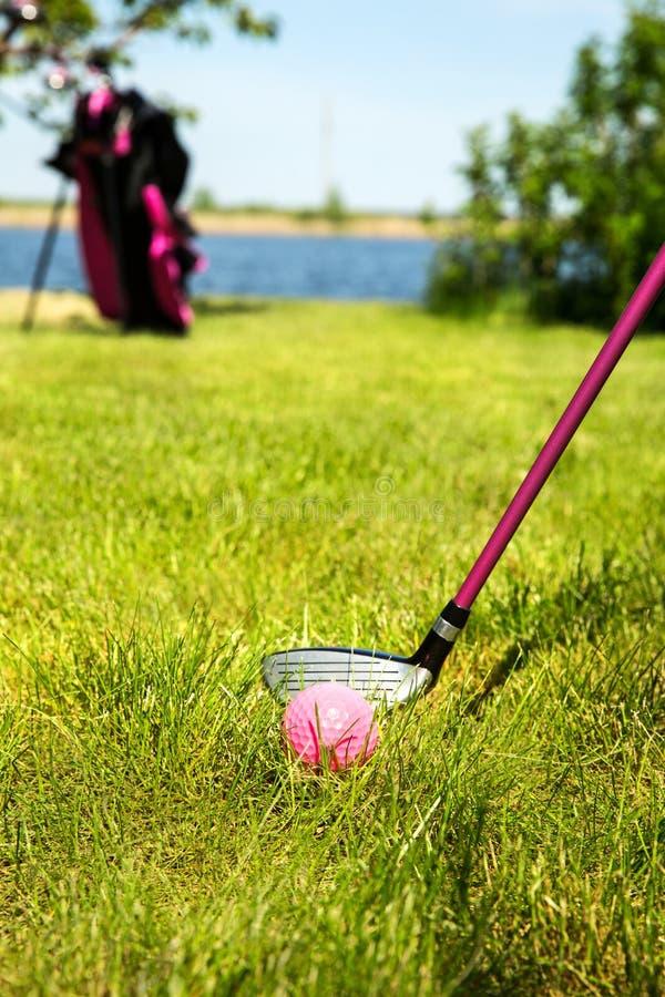 Équipement de golf d'enfants image libre de droits
